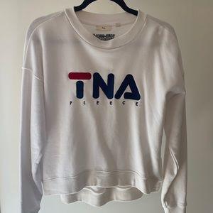 Aritzia TNA logo fleece long sleeve